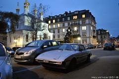 Mazda RX-7 - Switzerland, Geneva (Helvetics_VS) Tags: licenseplate switzerland geneva oldcars mazda rx7
