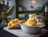 WCP-232.jpg (World Citizen Pix) Tags: food riz rice mangue mango glace icecream café coffee cozy confortable chiangmai thailand thaïlande dessert jaune yellow bokeh proxy