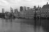 Den Haag (2)  - mono (okrakaro) Tags: denhaag thehague mono blackandwhite schwarzweis cityscape city water facades architecture fassaden stadt neterlands januar 2018 niederlande