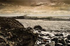 Torrequebrada 1 (MMSanz) Tags: torrequebrada benalmadena malaga costa rocas agua temporal nubes