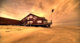 Beach pavillion Zee & Zo, Petten aan Zee, The Netherlands.