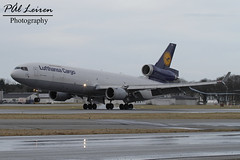 Lufthansa Cargo - D-ALCD - 2018.02.18 - ENZV/SVG (Pål Leiren) Tags: lh8055 dalcd yyz iah mcdonnelldouglas md11f md11 mcdonnell douglas lufthansa cargo lufthansacargo freighter stavanger sola norway svg enzv flyplass airport planes plane planespotting aviation aircraft runway rw airplane canon7d 2017 airliner jet jetliner february february2018