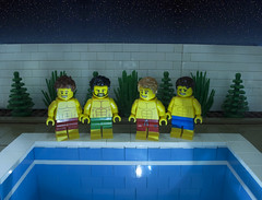 Pool ... No Water (Ben Cossy) Tags: lego pool no water swim night moc afol legography fringe theatre play friends tfol