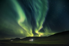 Here comes the light... (Sizun Eye) Tags: northernlights auroresboréales aurora borealis iceland farm night stars sky lights sizuneye nikond750 d750 nikkor1424mmf28 nikkor 1424mm