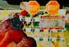 end of the story (OFF till 24th May/Bamboo Barnes - Artist.Com) Tags: digitalart secondlife avatar meilominotaur horn animal sign stop caution biohazard orange green red yellow blue apocalypse flower virtualart bamboobarnes