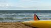 Surfboard awaits (Greenstone Girl) Tags: fff brighton yellow surfboard filter
