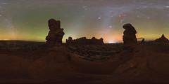 Garden of Eden 360x180 (Ben_Coffman) Tags: bencoffman bencoffmanphotography 360x180 360x180panorama vrpanorama vr virtualreality virtualrealitypanorama nightskypanorama archesnationalpark nightphotography nightpanorama utah arches park