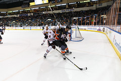 """Kansas City Mavericks vs. Indy Fuel, February 17, 2018, Silverstein Eye Centers Arena, Independence, Missouri.  Photo: © John Howe / Howe Creative Photography, all rights reserved 2018 • <a style=""""font-size:0.8em;"""" href=""""http://www.flickr.com/photos/134016632@N02/39676654324/"""" target=""""_blank"""">View on Flickr</a>"""