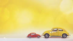 TWOot-TWOot (rockinmonique) Tags: 201852weekthemechallenge car toy vw beetle yellow orange macro bokeh tinycars numbers moniquew canon canont6s tamron tamron45mmf18 copyright2018moniquewphotography