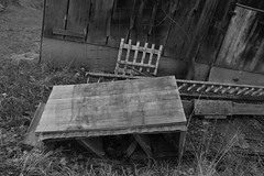 IMG_4345vb (hunted08) Tags: monochrome blackandwhite rustic barn shed country buildings wood