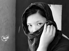 Those eyes at Sigiriya, Sri Lanka (Vina@Graphy) Tags: girl eyes blackandwhite sigiriya srilanka face portrait street