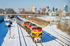 Belles & the Queen City (ryanmarkham20) Tags: railroad snow locomotive engine cincinnati kentucky city kcs skyline