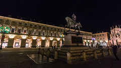 Night lights in Turin (andbog) Tags: sony alpha ilce a6000 sonya6000 emount mirrorless csc sonya sonyα sonyalpha sony⍺6000 sonyilce6000 sonyalpha6000 ⍺6000 ilce6000 architettura architecture apsc manual mf manualfocus primelens manualfocusing samyang samyang12mmf20ncscs 12mmf20 12mm f20 lights wideangle night notte square piazza piazzasancarlo to torino turin piemonte piedmont it italia italy handheld 169 16x9 widescreen church chiesa palazzi buildings xmaslights christmaslights city cityscape città luci baroque barocco statua statue