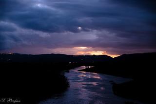 Günbatımı Altında Gediz Nehri (Gediz River under Sunset)