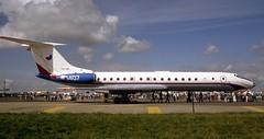 1407. Czech Air Force Tupolev Tu-134A - explored (Ayronautica) Tags: ayronautica aviation scanned military airshow riat 1407 july 1991 fairford egva czechairforce tupolevtu134a internationalairtattoo