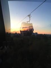Cable car at Gärten der Welt Berlin (Die kleine Meerjungfrau) Tags: berlin city schwarz orange black cloud wolken clouds alt old new neu diekleinemeerjungfrau himmel sky silhouettes silhouette iphone6 iphone evening abendsonne sunlight sonnenlicht sun sonne sonnenuntergang sundown spiegelung reflexion reflection seilbahn