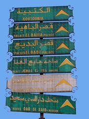 Find your way in Marrakech (Shahrazad26) Tags: signs bewegwijzering marrakech marokko morocco maroc