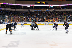 "Kansas City Mavericks vs. Toledo Walleye, January 20, 2018, Silverstein Eye Centers Arena, Independence, Missouri.  Photo: © John Howe / Howe Creative Photography, all rights reserved 2018. • <a style=""font-size:0.8em;"" href=""http://www.flickr.com/photos/134016632@N02/39839482211/"" target=""_blank"">View on Flickr</a>"