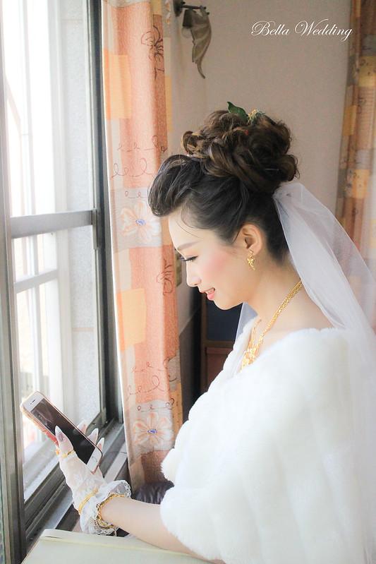 嘉義新秘,新娘秘書,新秘,白紗造型,單妝迎娶造型,可愛花苞頭髮型