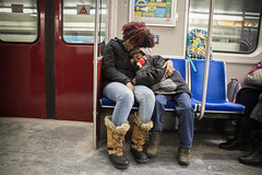 Commuter Cuddles (cookedphotos) Tags: 2018inpictures toronto ontario canada streetphotography ttc subway family mom son mother child commute urban transit 365project p3652018