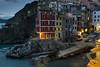 Riomaggiore - first lights (dariobrondi) Tags: riomaggiore liguria cinqueterre night hamlet sea tirrenian