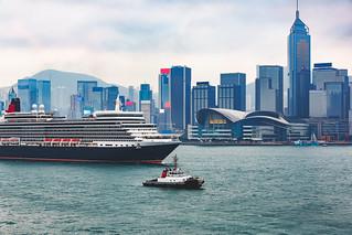 Queen Elizabeth Cruise, Victoria Harbour, Hong Kong