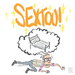 SEXTOU (Saulo Cruz) Tags: sextou sextafeira friday cartoon sketch lazy preguiça cansaço sono sleep desenho saulocruz nerd freak