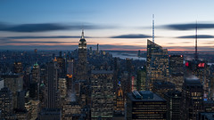 The Empire City (Gary Walters) Tags: clouds skyscraper empire state building sunset longexposure nyc a7r2 smoothreflections city cityscape a7r ii skyline sony top of the rock a7rii empirestatebuilding topoftherock