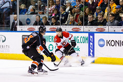 "Kansas City Mavericks vs. Cincinnati Cyclones, February 3, 2018, Silverstein Eye Centers Arena, Independence, Missouri.  Photo: © John Howe / Howe Creative Photography, all rights reserved 2018. • <a style=""font-size:0.8em;"" href=""http://www.flickr.com/photos/134016632@N02/40119439701/"" target=""_blank"">View on Flickr</a>"