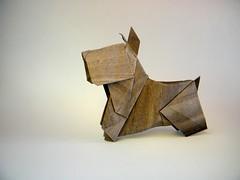 Scottish Terrier - Katsuhisa Yamada (Rui.Roda) Tags: origami papiroflexia papierfalten chien dog perro cão cachorro scottish terrier katsuhisa yamada