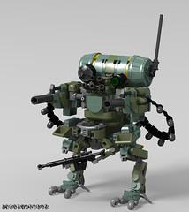The Robust (_bidlopavidlo_) Tags: robust lego ldd digital designer robot bot war cannon gun droid mech mecha exo exosuit