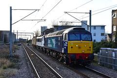 5Z90 57002 + 90002 + DBSO 9714 Crewe IEMD - Norwich Crown Point (Adam McMillan Railway Photography) Tags: 57002 90002 directrailservices railway loco dbso diesel electric drs ga anglia