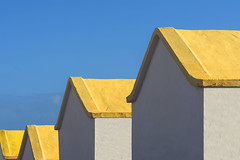 Four yellow roofs (Jan van der Wolf) Tags: map182259v yellow geel roof roofs houses four fuerteventura house huis huizen huisjes herhaling repetition