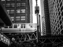 commute (Web-Betty) Tags: chicago illinois urbanlandscape bnw blackandwhite streetphotography transit cta city urban