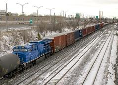 GECX 2034 (Michael Berry Railfan) Tags: cn canadiannational cn310 train freighttrain lachine montreal quebec montrealsub ge generalelectric gevo es44ac gecx2034