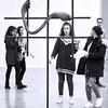 Surprise ! (_ Adèle _) Tags: paris palaisdetokyo exposition camillehenrot grille bras mains filles amusement surprise nb noiretblanc monochrome bw blackandwhite