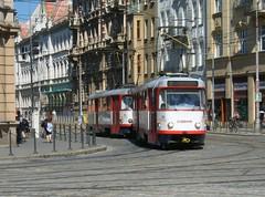 Olomouc trams Nos. 164 and 165 (johnzebedee) Tags: transport tram publictransport vehicle olomouc czechrepublic johnzebedee tatra tatrat3