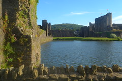 Castle and Mountain (Dave Roberts3) Tags: wales glamorgan caerphilly moat lake landscape caerphillycastle historic building castle