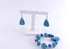 parure bluebis (dorémifasolafimo) Tags: bijoux polymère bracelet bague boucles doreilles collier fantaisie jewerly polymer clay