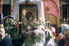 3b. Kissing the Icon that was being returned the to church for the first time after 70 years of communism