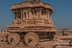 Stone Chariot (LHDPhotos) Tags: hampi india chariot stone masonry