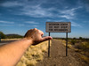 Paying Attention on Carefree Highway (oybay©) Tags: sign hitchhiker hitching hitch thumb hand arm color vista arizona carefreehighway carefree highway ignorant stupid funny directions phoenix phoenixarizona haha