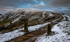Mam Tor -1 (Chris Shaw - chriscross) Tags: edale mam tor snow road ice valley 80d canon