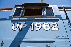 National Train Day - UP 1982 Detail Shot (tim_1522) Tags: railroad railfanning rail missouri mo unionpacific up heritage sd70ace emd unionstation 1982 missouripacific mp mopac