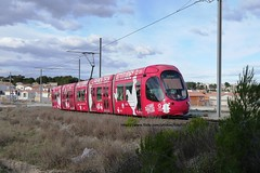Transports de Montpellier Mediteranee Metropole, Alstom Citadis 302 2048 - Ligne 2, Jacou (fabp57) Tags: alstom citadis302 tramway transportsencommun tam transportsdelagglomerationdemontpelliermetropole ligneaccessible ligne2 jacou sabines notredamedesablassou saintjeandevedascentre