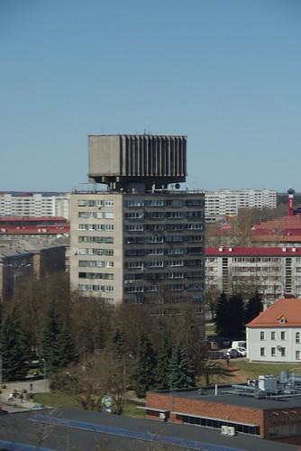 571 Immeuble chateau d'eau post-soviétique. Narva (EST)