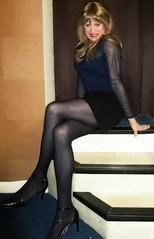 Denim Minis (Amber :-)) Tags: black denim mini skirt tgirl transvestite crossdressing