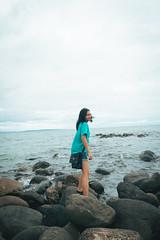 Seawall (5-11-17) (cj_duy) Tags: sea shore ocean people rocks nikon kit lens blue aqua cerulean