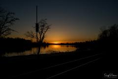 Fraser River Sunset - Port Haney (SonjaPetersonPh♡tography) Tags: mapleridge fraserriver porthaney britishcolumbia bc canada porthaneywharf wharf sunset nikon nikond5300 pier sky nightphotography nightscenes silhouettes