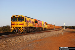 7 December 2017 P2508 P2509 2512 5725 loaded ore Northern Gully (RailWA) Tags: railwa philmelling p2508 p2509 2512 5725 loaded ore northern gully aurizon geraldton midwest
